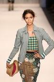 Model walks the Tracy Reese runway