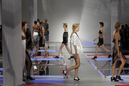 Models walk the runway at Rodarte show