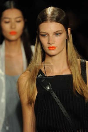 Model at Rag and Bone Women's Collection show