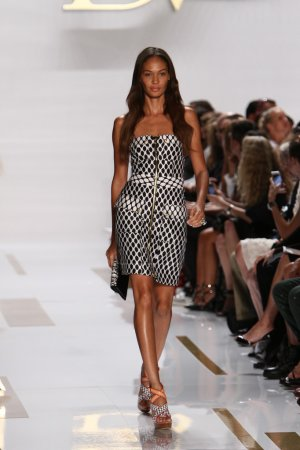 Joan Small at Diane Von Furstenberg fashion show