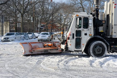 Sanitation tracks cleaning streets