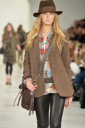 Model at the Ralph Lauren fashion show