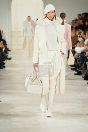 Karlie Kloss at Ralph Lauren fashion show