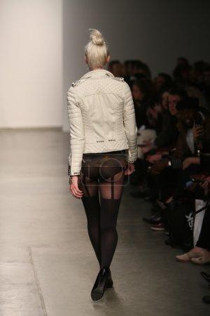 Model at Christian Benner show