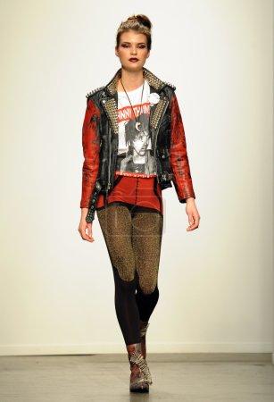Model walks at Christian Benner show