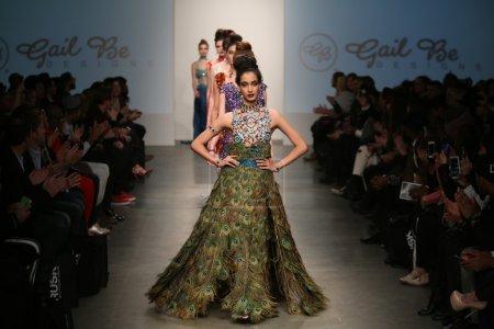 Models walk runway at Gail Be show