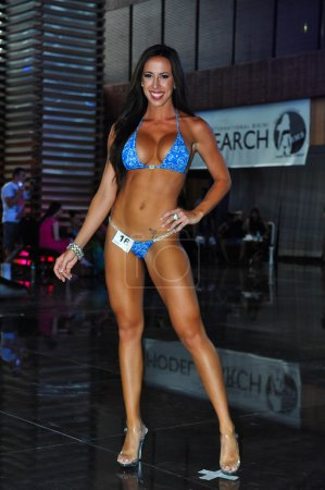 Model during International Bikini Model Search