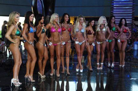 Models during International Bikini Model Search