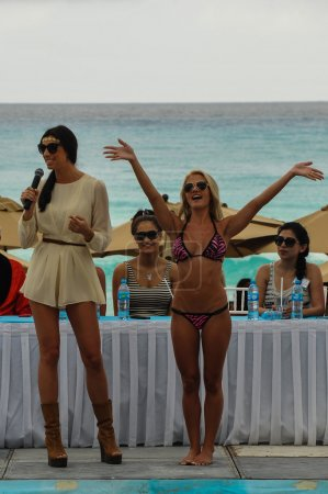 Models poses at Mandala Beach Resort