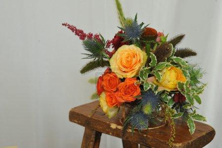 Bridal floral arrangements.