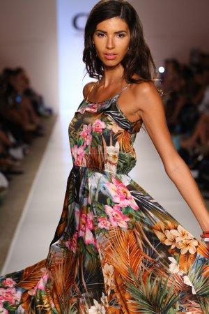Model walks at Cia Maritima collection at Cabana Grande