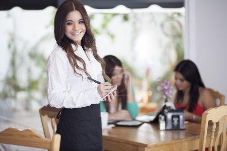 Photo for Waitress taking order - Royalty Free Image