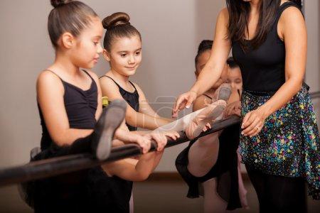 Little girls enjoying dance class