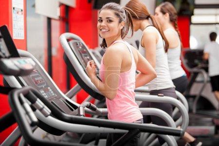 Athletes on the treadmill