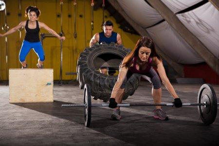 Cross-training in a gym