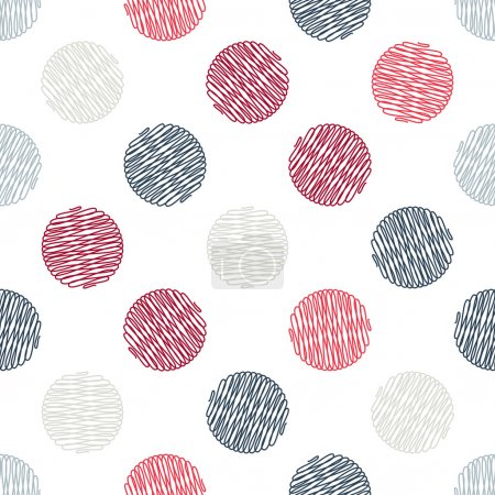 Illustration for Seamless pattern. Polka dot texture in doodle style. Vector illustration - Royalty Free Image