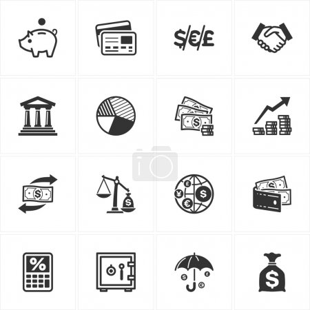 Set of 16 finance icons great for presentations, w...
