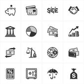 Set of 16 finance icons great for presentations web design web apps mobile applications or any type of design projects