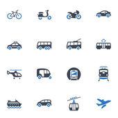 Transportation Icons - Blue Series