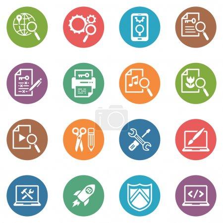 SEO & Internet Marketing Icons Set 1 - Dot Series