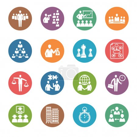 Management and Human Resource Icons - Dot Series