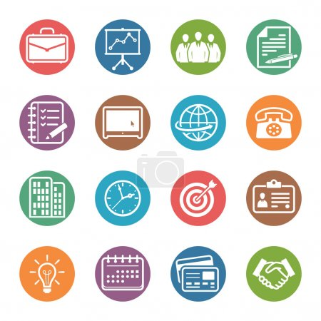 Business and Office Icons - Dot Series