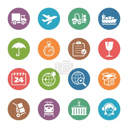 Logistics Icons - Dot Series