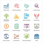 This set contains 16 personal & business finance icons that can be used for designing and developing websites as well as printed materials and presentations