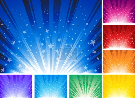 Illustration for Vector background of star burst. Eps 10 file. - Royalty Free Image