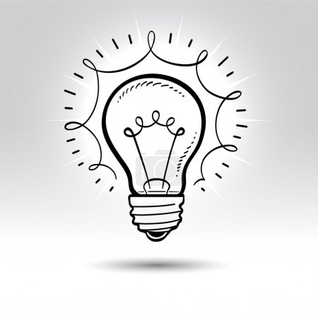 Illustration for Light bulb drawing. - Royalty Free Image