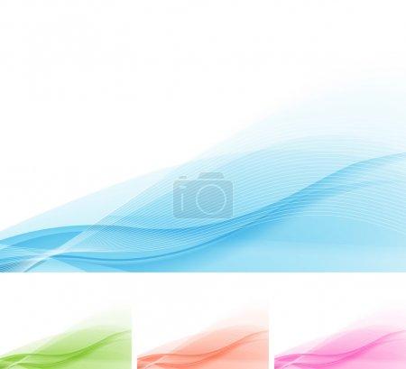 Illustration pour Dynamic Wave Background. Fichier EPS 10, contient des effets de transparence . - image libre de droit