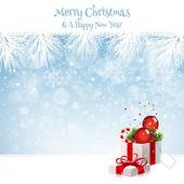 Weihnachten Hintergrund mit Geschenk-box