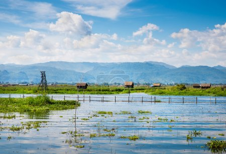 Ancient houses on the Inle Lake