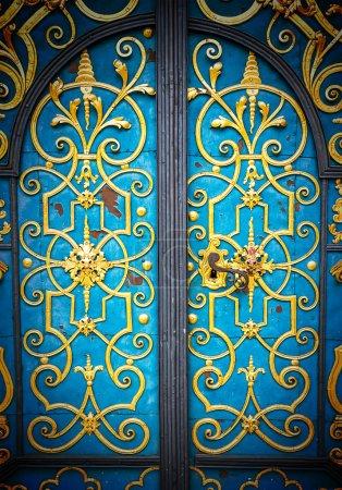 Old European-style doors