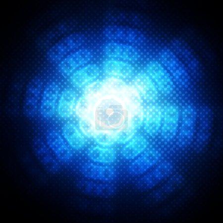 Foto de Círculos abstractos sobre fondo azul - Imagen libre de derechos