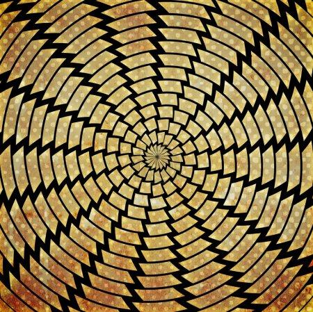 Colorful grunge twirl background