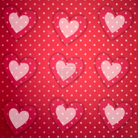 Photo for Love background with hearts - Royalty Free Image