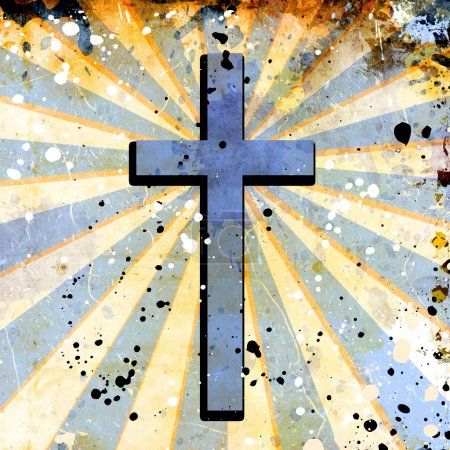 cross in abstract grunge background