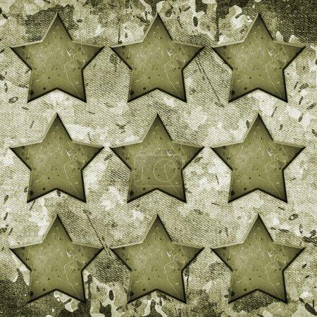 Photo pour Grunge militaire fond avec des étoiles abstraites - image libre de droit