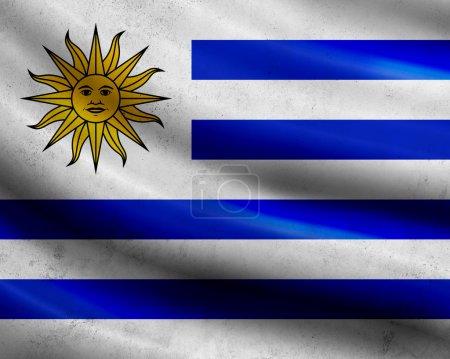 Photo pour Drapeau de l'uruguay de grunge - image libre de droit