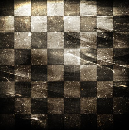 Photo for Grungy dotted chessboard background with stains - Royalty Free Image