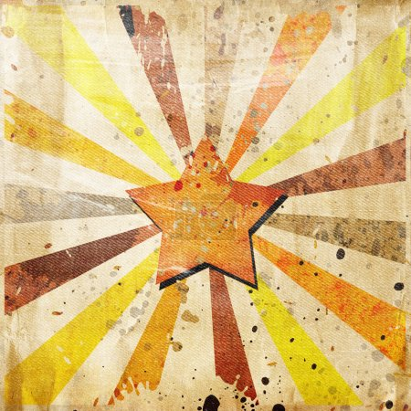 Absrtact star on grunge background