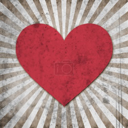 grunge heart with abstract stains