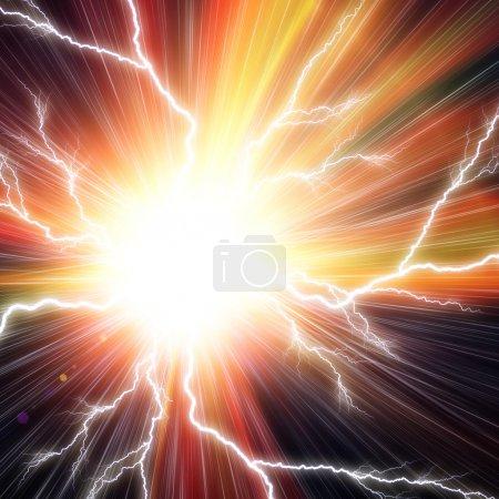 Foto de Fondo flash eléctrico - Imagen libre de derechos
