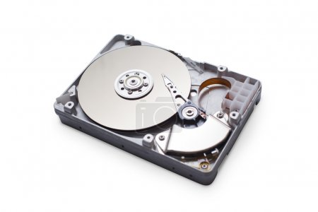 Hard disk drive HDD isolated on white background