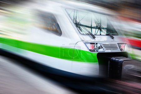 Modern speed train on a way