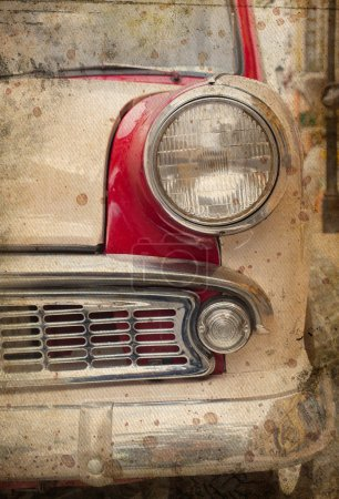 retro car headlight