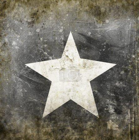 white star on grunge background
