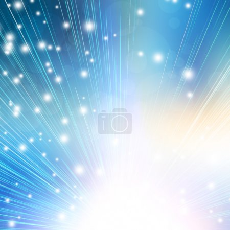 Abstract background with flashes and rays