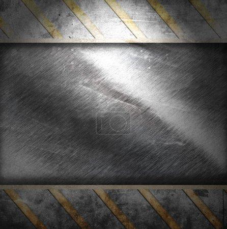 Photo pour Fond métallique avec des rayures - image libre de droit